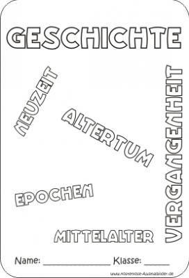 Geschichte Deckblatt Zum Ausdrucken Und Ausmalen Schulbeginn