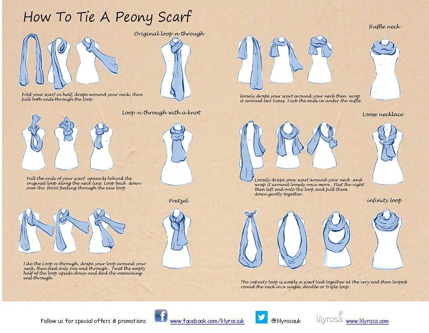 printable how to tie a scarf | About Us Company Info ...