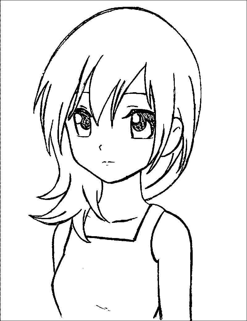 stunning Coloring Pages Online Cute Anime Coloring Pages