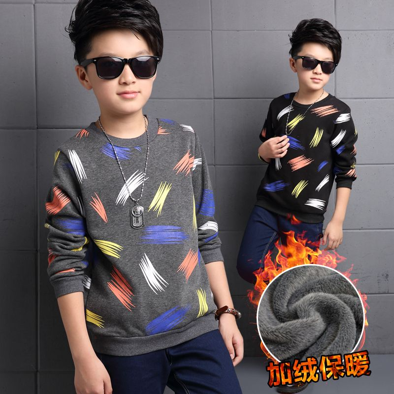 >> Click to Buy << Wini baby Children's clothing boys t-shirt 2017 autumn and winter child long-sleeve basic shirt plus velvet camouflage t shirt #Affiliate