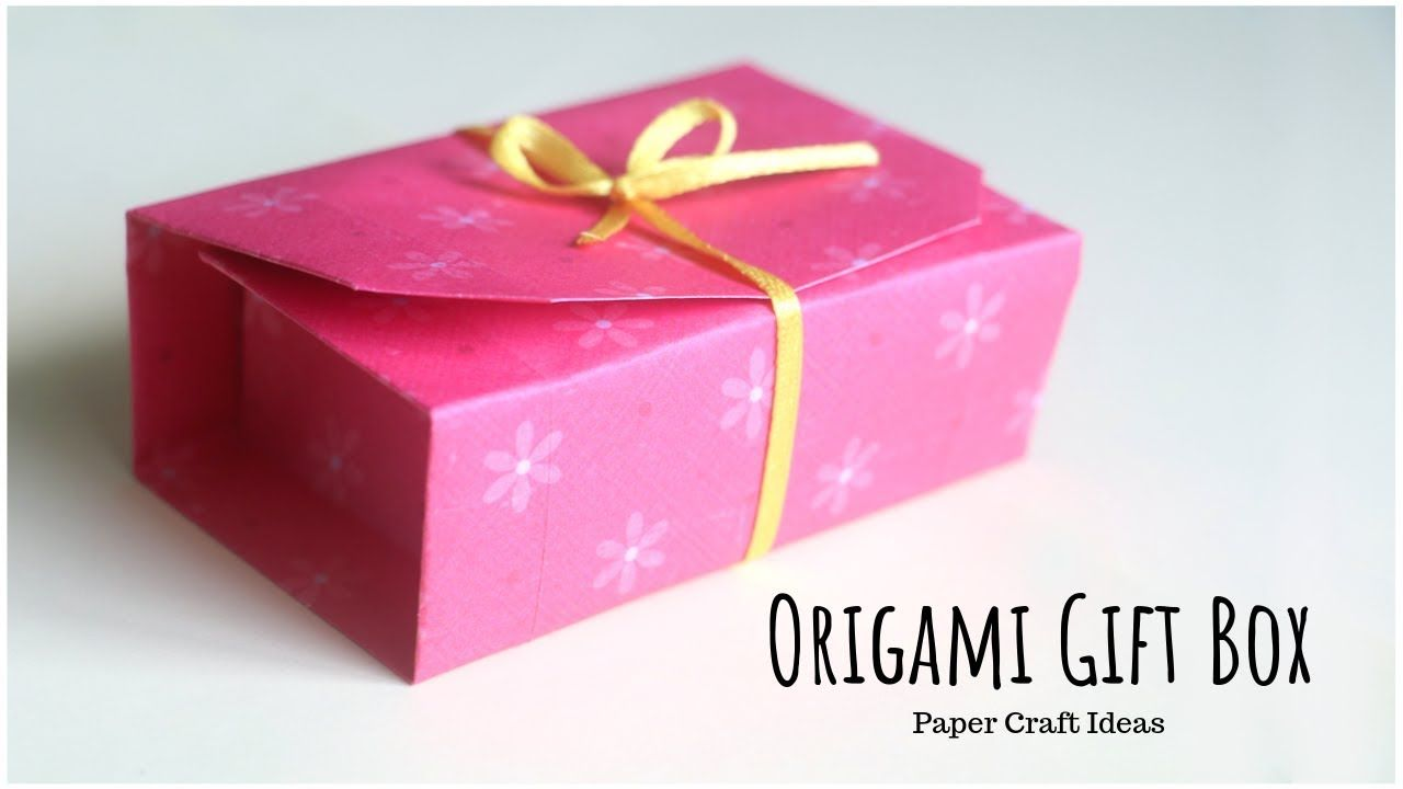 DIY Valentine gift box with star shaped lid. REALLY EASY Origami ... | 720x1280