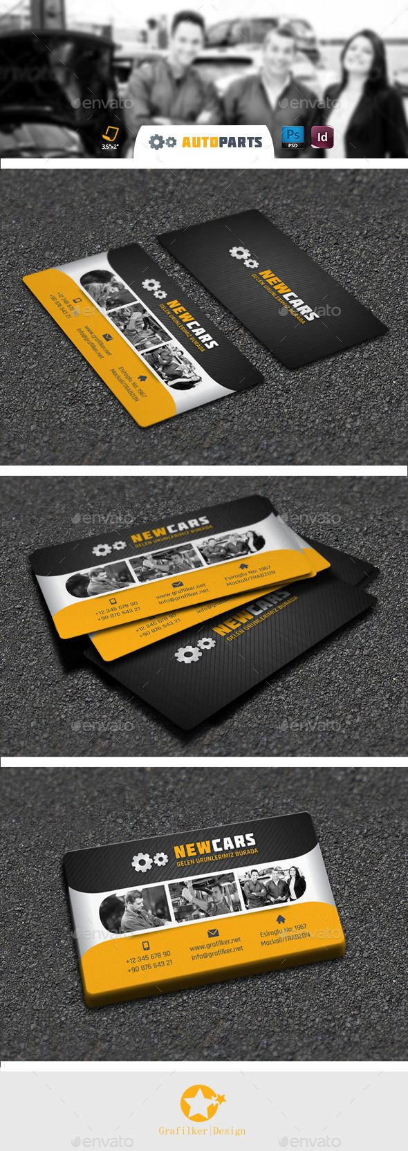 Automobile Service Business Card Templates | Fonts-logos-icons ...