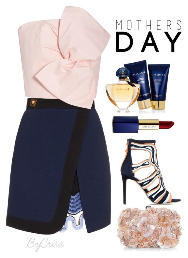 """Untitled #673"" by crisa-gloria-eduardo ❤ liked on Polyvore featuring Peter Pilotto, Delpozo, Accessorize, Guerlain and Estée Lauder"