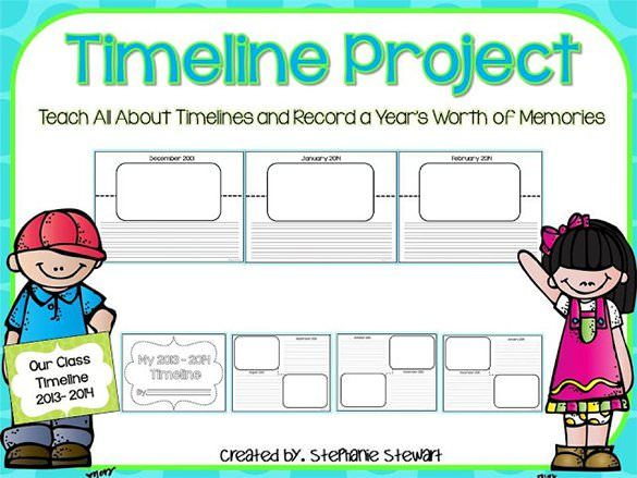 8+ Timeline Templates for Students u2013 Free Sample, Example, Format - timeline template for student