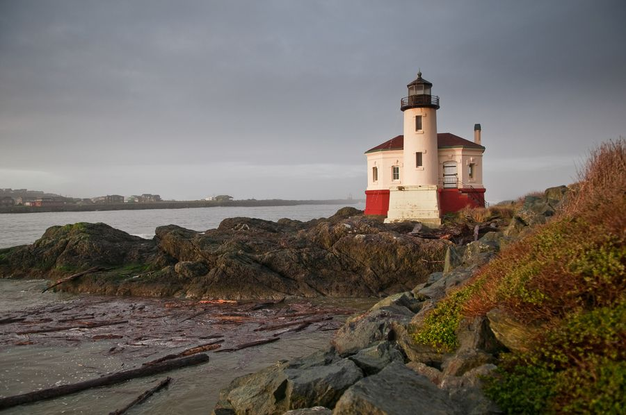 Coquille River Lighthouse by Karl Johnson, via 500px