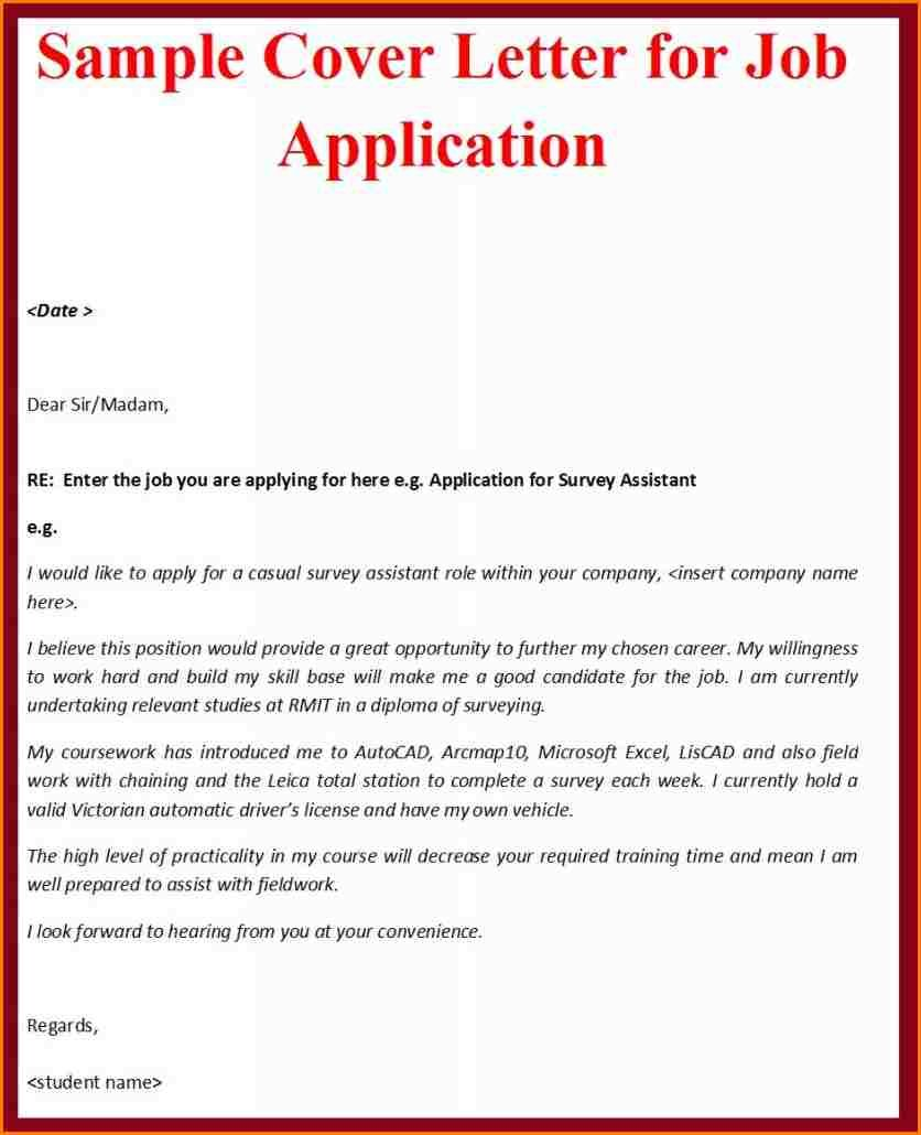 Application letter for a writing job for Should you bring a cover letter to a job fair