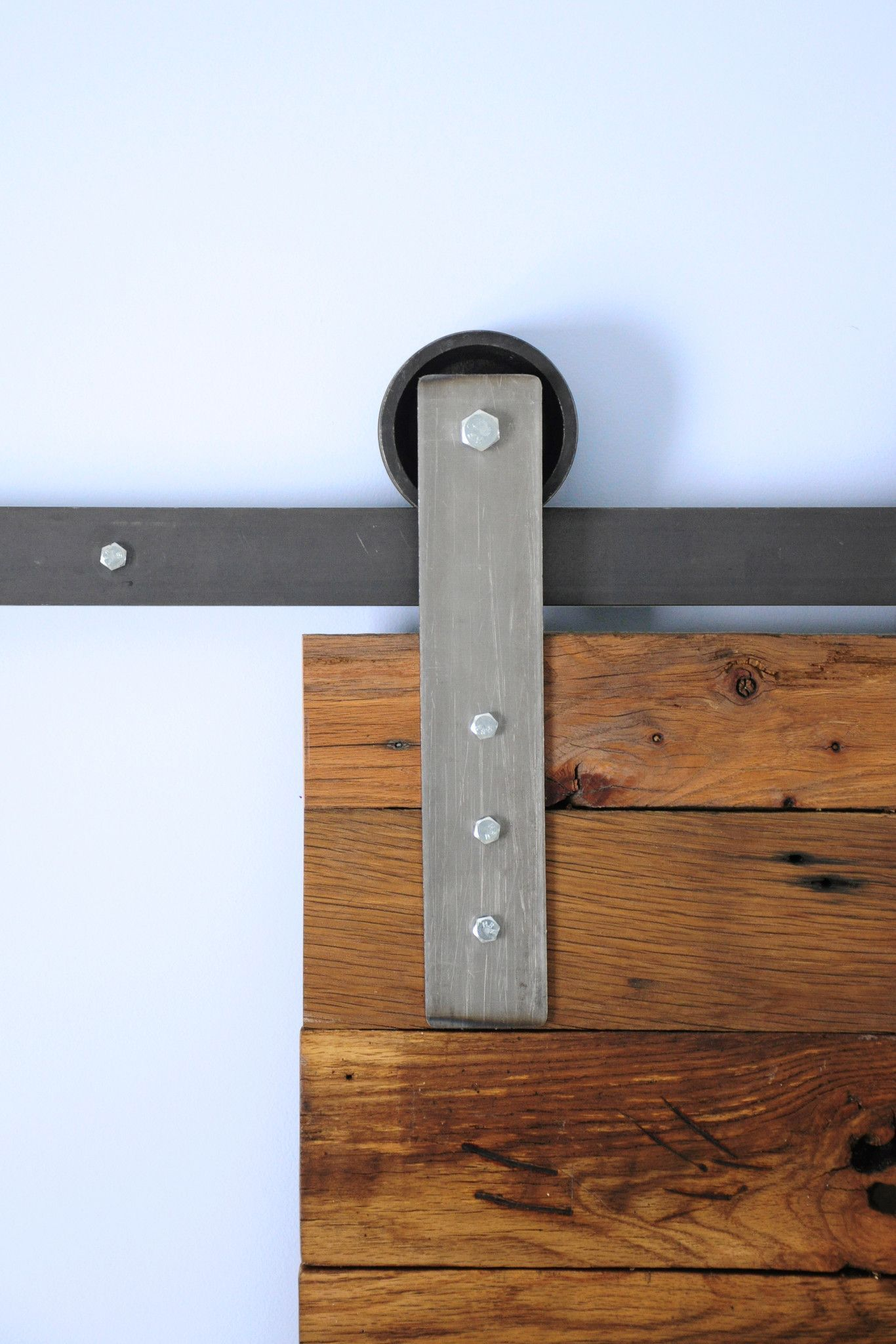 The Modern Flat Gets Its Name From The Clean And Simple Design That Yields Its Modern Look In This Double Barn Door Hardware Kit This Har Sliding Barn Door Hardware Barn