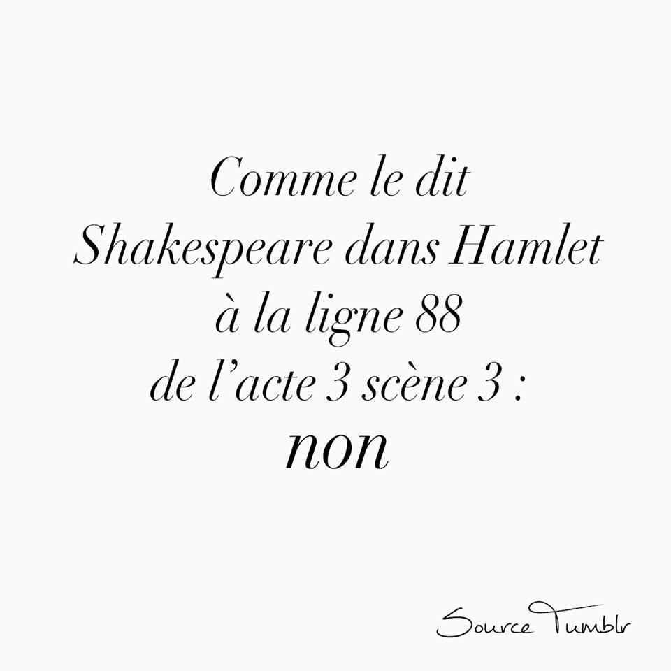 Comme Le Dit Shakespeare Dans Hamlet Citation Phrase Citation Proverbes Et Citations