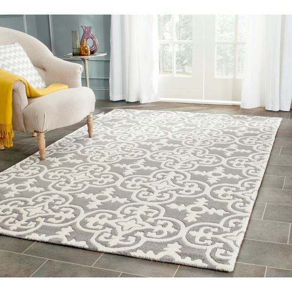 Safavieh Handmade Chatham Ura Modern Moroccan Wool Rug With Images Contemporary Rug Wool Area Rugs Contemporary