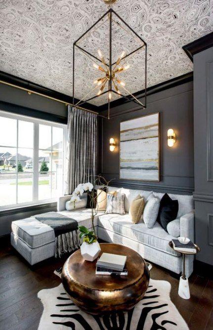 27 ideas living room modern black dark walls livingroom on beautiful modern black white living room inspired id=74041