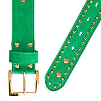 mejor amado 11bf1 247d4 Cinturón Verde Esmeralda Enna Complementos Tachas | vicios ...
