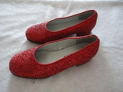 Size 3.5 Grade School Girls ~ *Xhilaration - Red Sparkly Xmas Shoes Sm Heel Nice