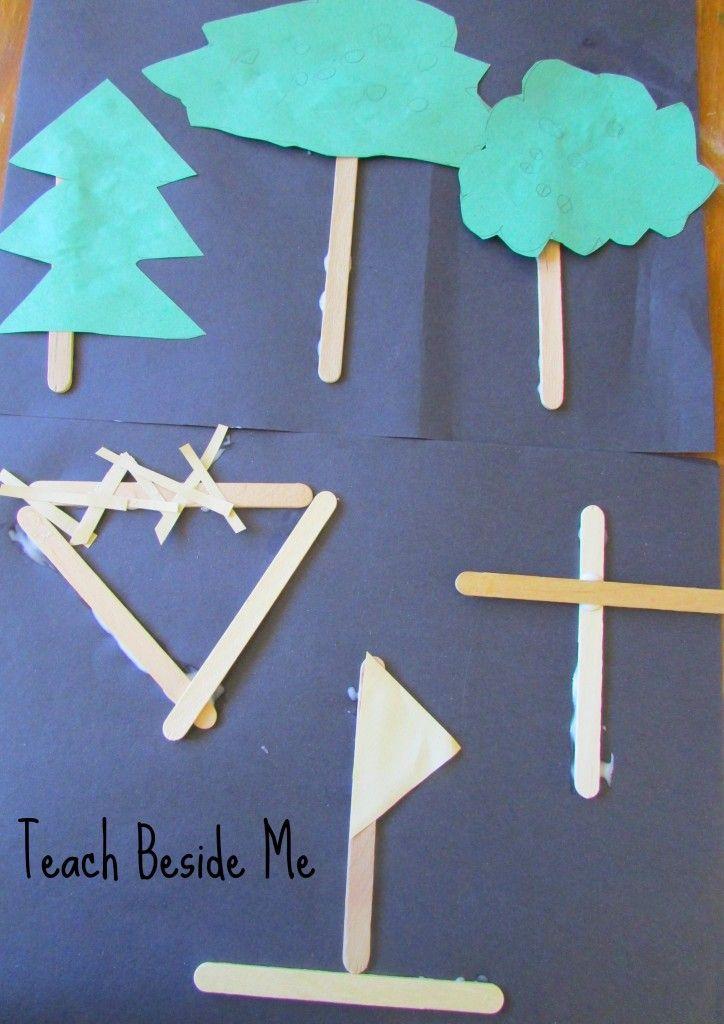 The Legend Of Three Trees Craft Tree Crafts Preschool Crafts