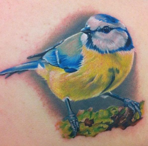 Hyperrealism Bird Tattoo by Michelle Maddison