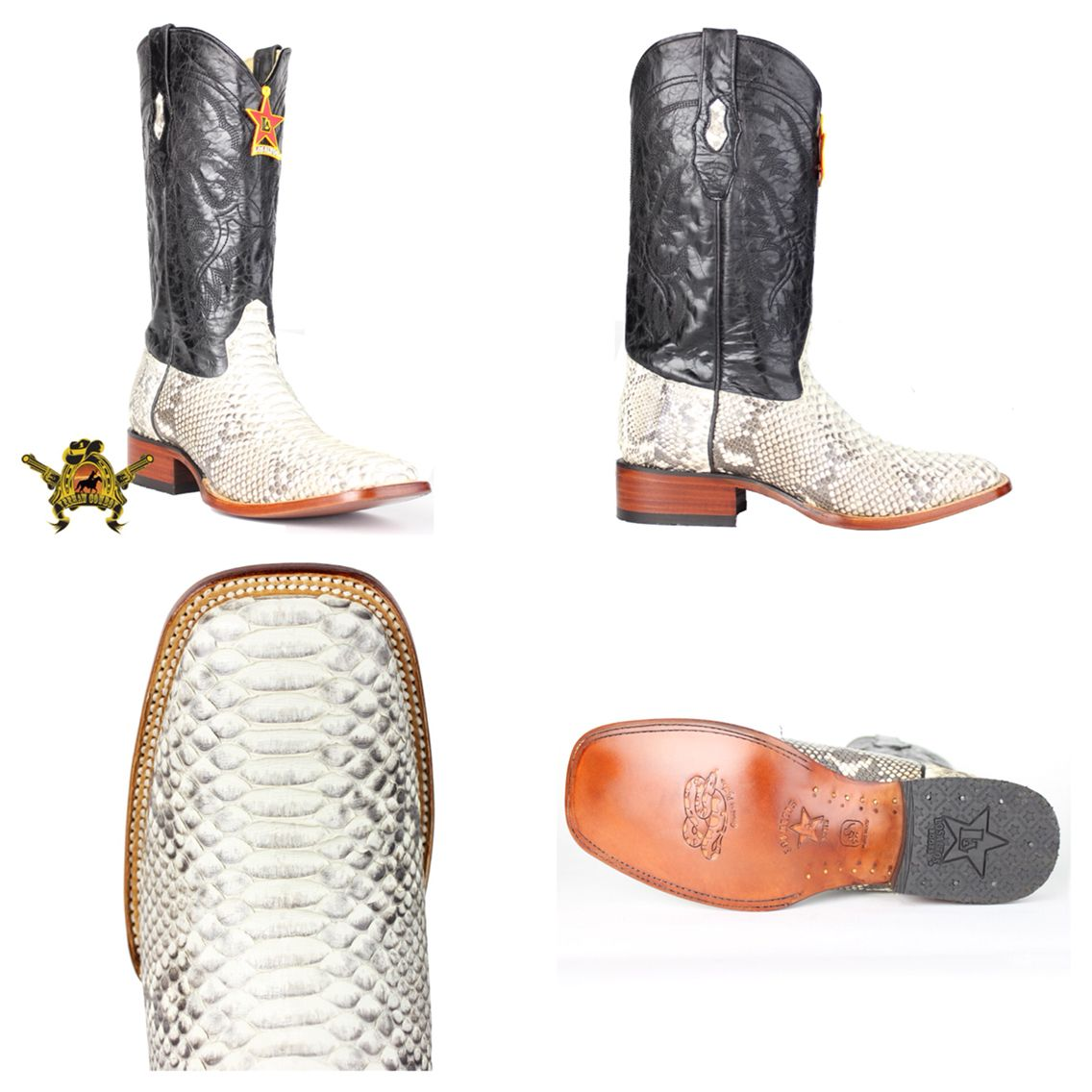 3de6eabe582 Slide your feet into these Los Altos Python square toe boots and ...