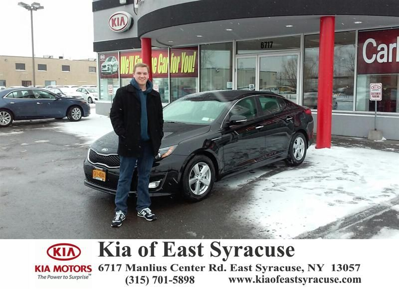 I went to Kia of East Syracuse to purchase a 2015 Kia Optima. I had a great experience with their sales team. They were very helpful and informative throughout the entire process. I would recommend anyone looking to purchase a new to visit Bobby G at Kia of East Syracuse. - Kevin Burke, Saturday, February 07, 2015 http://www.kiaofeastsyracuse.com/?utm_source=Flickr&utm_medium=DMaxxPhoto&utm_campaign=DeliveryMaxx