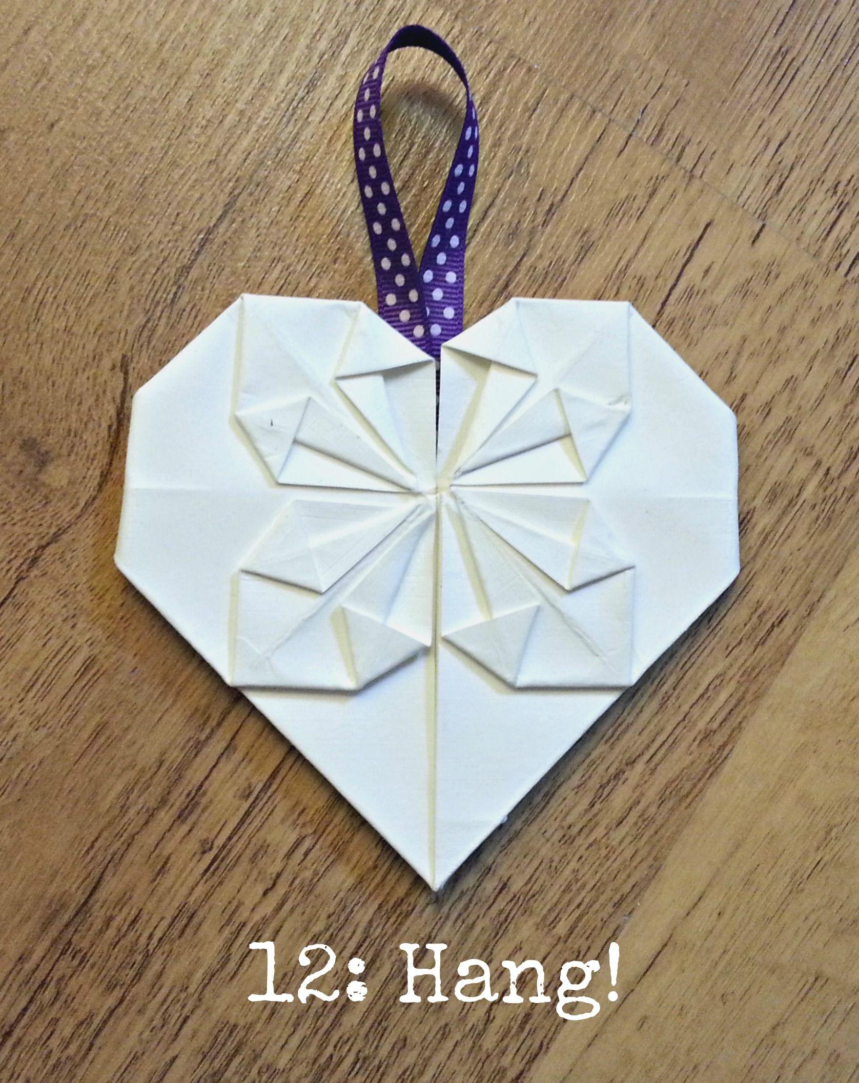 Wedding DIY Tutorial Origami Heart Decorations  Origami hearts