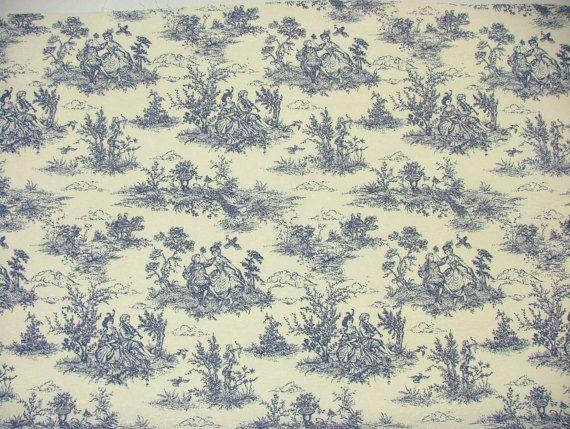 Regency Toile de Jouy Tissu Coton Usage Multiple