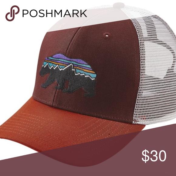 Patagonia Fitz Roy Bear Trucker Hat Mid-crown, trucker-style hat