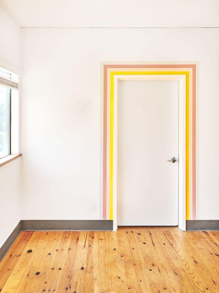 The Case for Painting Your Door Frame…Yes, Just Your Door Frame #SOdomino #room #wall #property #yellow #floor #flooring #wood #woodflooring #hardwood #laminateflooring