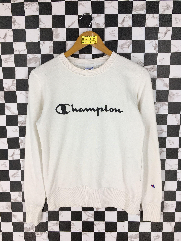 Vintage Champion Jumper Ladies Sweatshirts Medium 90 S Champion Apparel Usa Sportswear Champion Crewnec Champion Sportswear Sweatshirts Women Champion Crewneck [ 3000 x 2250 Pixel ]