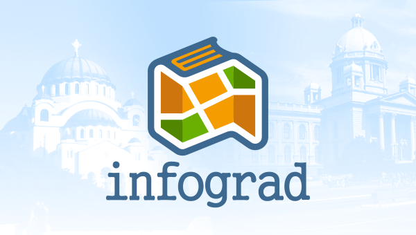 Beograde map guide logo Infograd Freelance logo designer