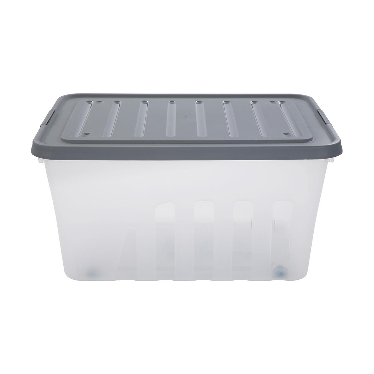 60l Storage Container On Wheels Kmart Storage Containers With Wheels Storage Containers Storage