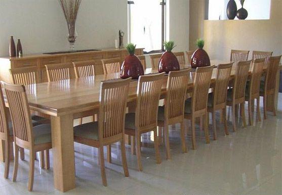 Timber Furniture Dining Table, Custom Made Wood Furniture Malaysia