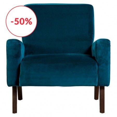 fauteuil marlon en velours bleu canard the conran shop atelier la roulotte fauteuil bleu. Black Bedroom Furniture Sets. Home Design Ideas