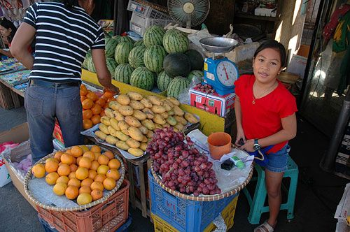 A standard fruit stand, this one in Olongapo City on the ...