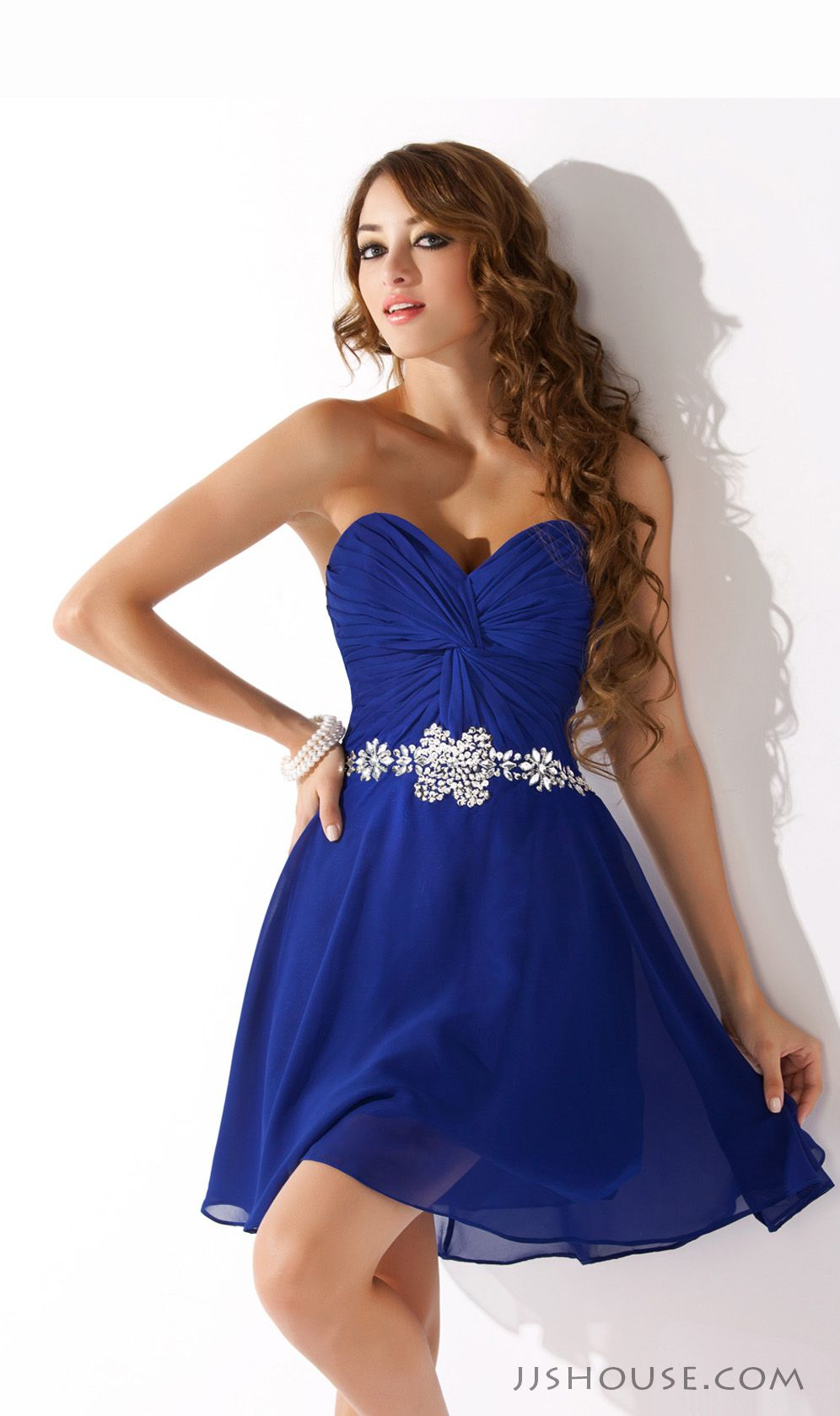 554adcced9f You will look absolutely stunning in this princess sweetheart short chiffon  homecoming dress!  JJsHouse