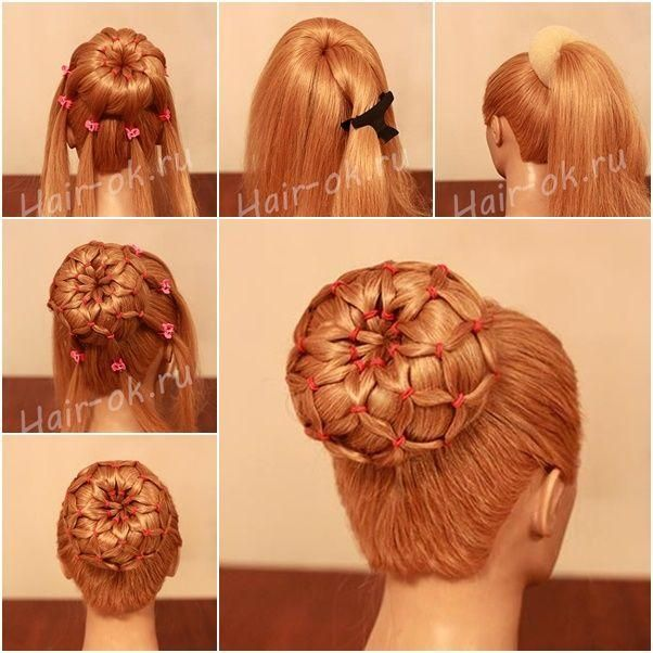 Diy Hairstyles For Long Hair: DIY Easy Sock Bun Updo Hairstyle With Elastic Web