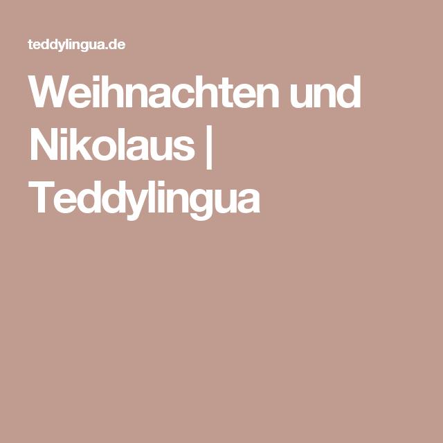 Weihnachten und Nikolaus | Teddylingua
