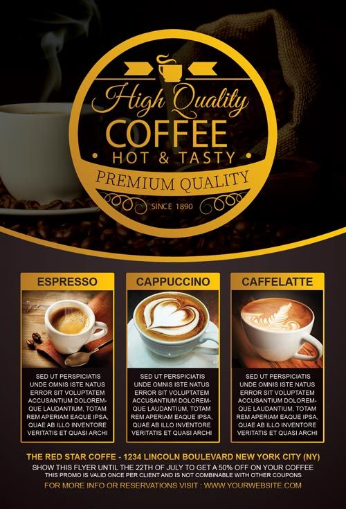 Coffee Special Promotion Flyer Template - http\/\/freepsdflyer - Gym Brochure Templates