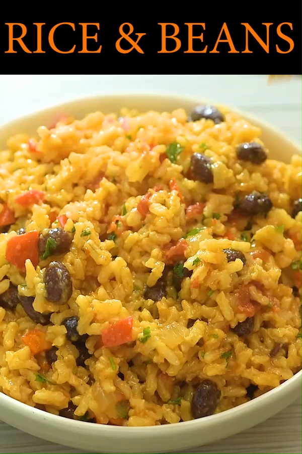 I've tried so many variations of Rice and Beans, and this one is definitely the winner! It makes an amazing side dish, or a satisfying meal. FOLLOW Cooktoria for more deliciousness!