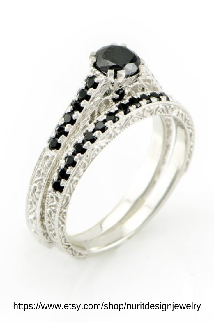 Unique Wedding Ring Made Of Solid Gold With Black Diamonds For Your Special Day Luxury Small Wedding Rings Black Diamond Wedding Rings Wedding Rings Unique