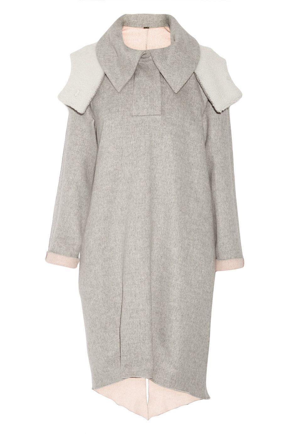 ADAM LIPPES Shearling-Trimmed Wool And Angora-Blend Coat. #adamlippes #cloth #coat