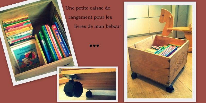diy caisse vin roulette rangement livres jouets enfant cambre les mamans fut es diy des. Black Bedroom Furniture Sets. Home Design Ideas
