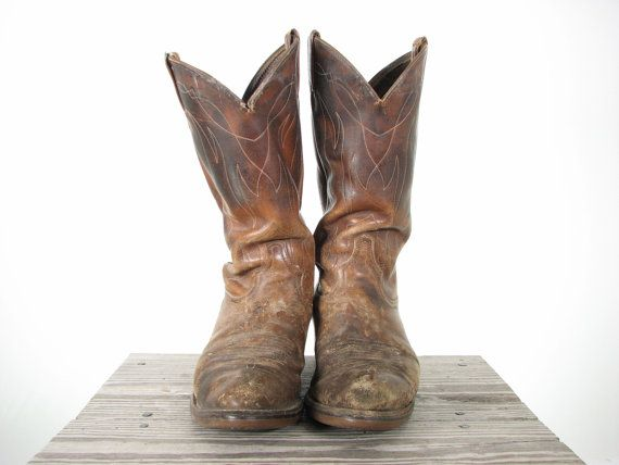 Mens Rugged Western Cowboy Boots 10 By