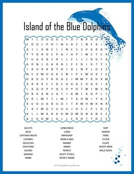 Island of the Blue Dolphins Word Search Puzzle | Word search ...