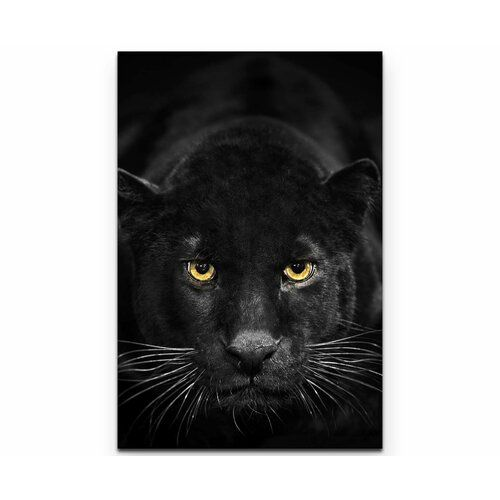 Jaguar Growling Panther Canvas Art Print By: Black Panther Print On Canvas East Urban Home Size: 90cm L