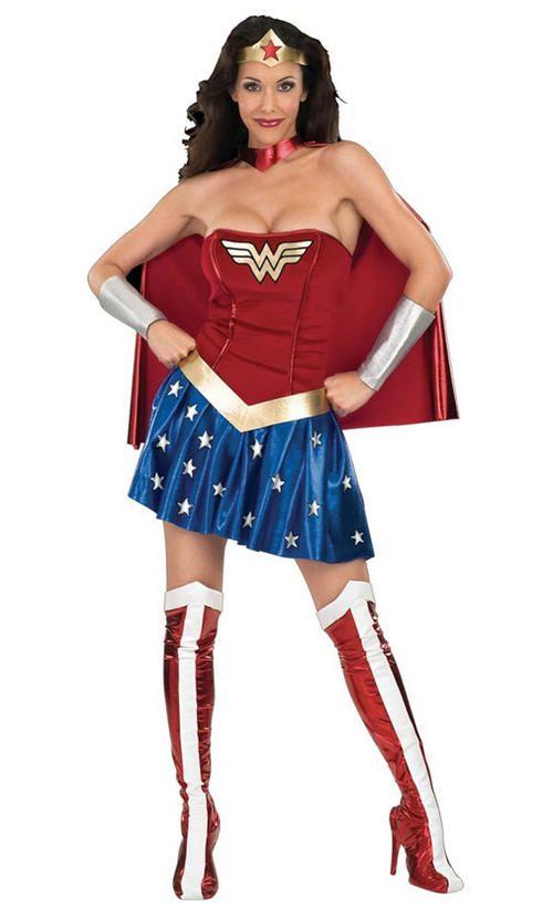 Adult Women Ladies Superhero Supergirl Costume Comic Party Outfit Fancy Dress UK