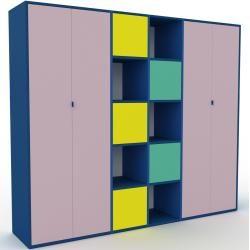 Photo of Wohnwand Puderrosa – Individuelle Designer-Regalwand: Türen in Puderrosa – Hochwertige Materialien