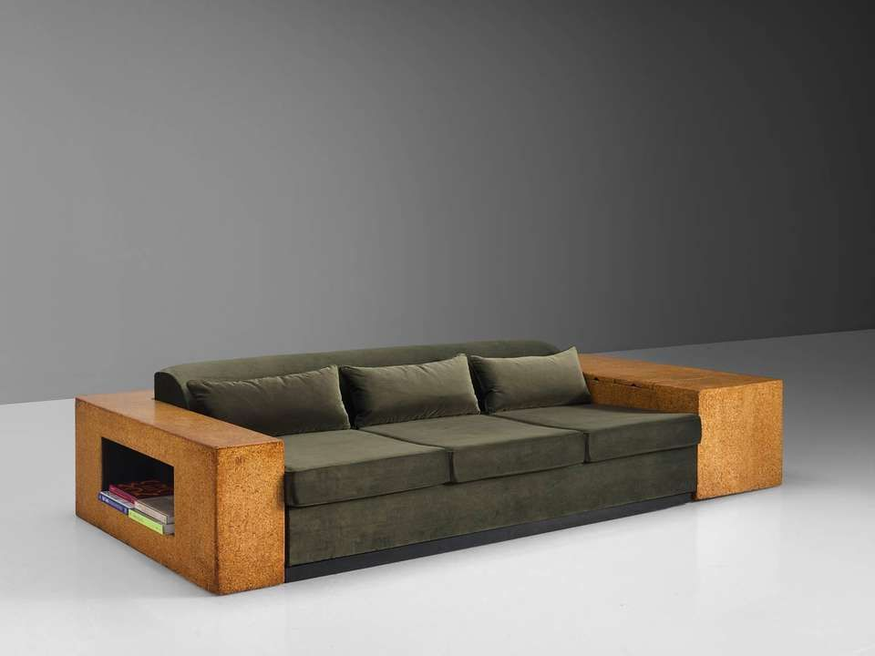 For Sale On 1stdibs Paul T Frankl Enameled Wood Cork Grey Green Upholstery New York 1930s This Sofa Is Robus Wooden Sofa Designs Wooden Sofa Furniture