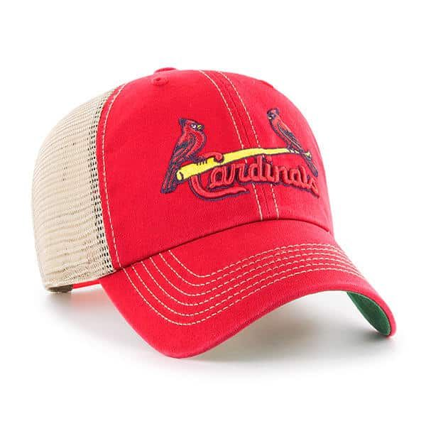 huge discount 996da 29858 St. Louis Cardinals 47 Brand Trawler Red Clean Up Mesh Adjustable Hat