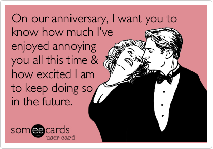 YAY for anniversaries!