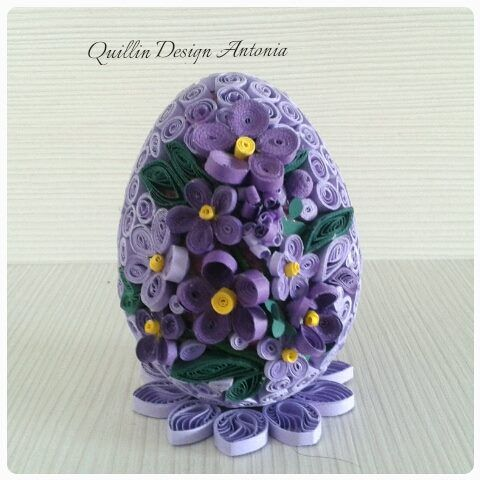 Purple Egg Quilling Designs Paper Quilling Patterns Quilling Paper Craft