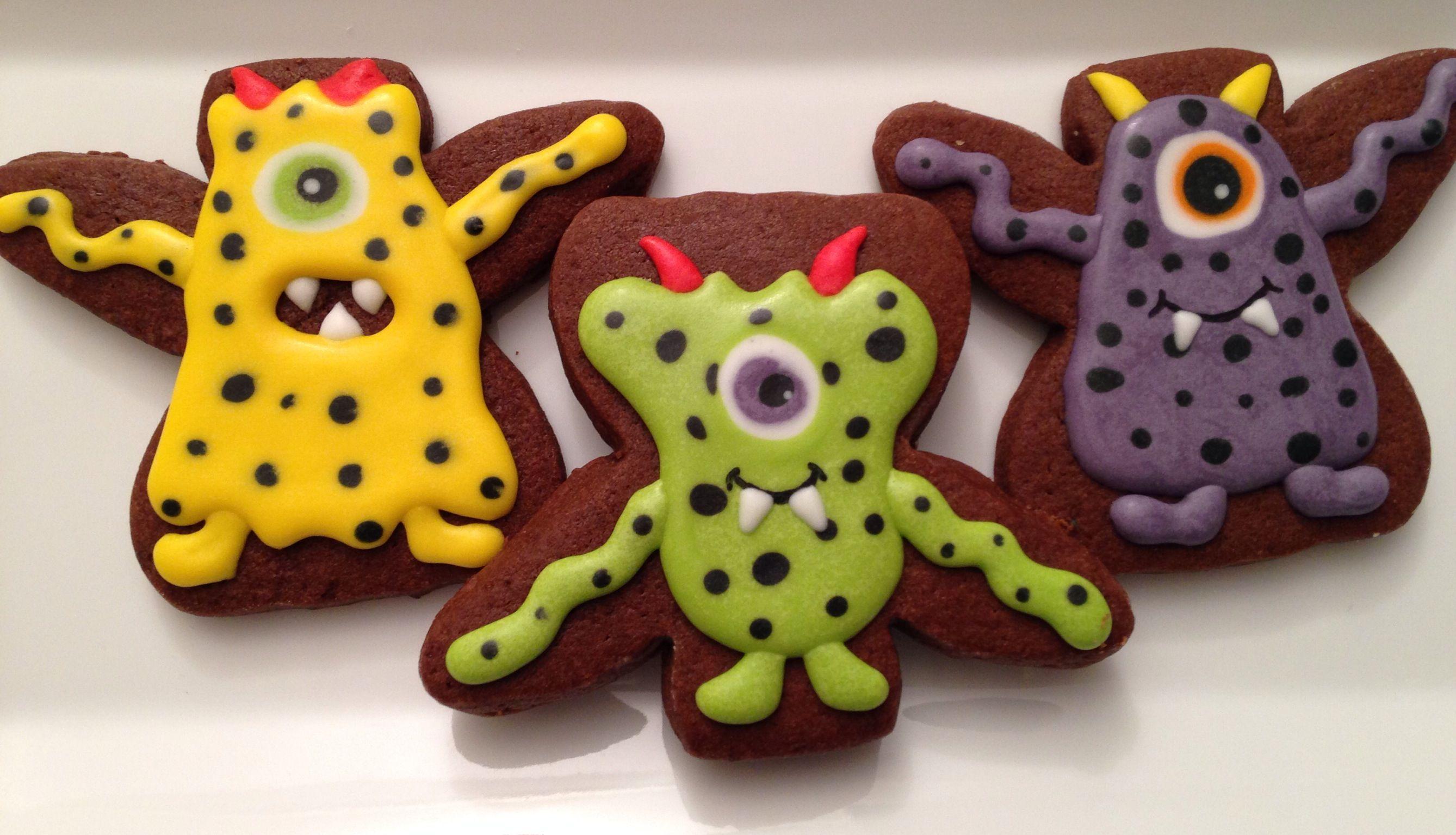Polka dot monsters Sugar cookies, Gingerbread cookies