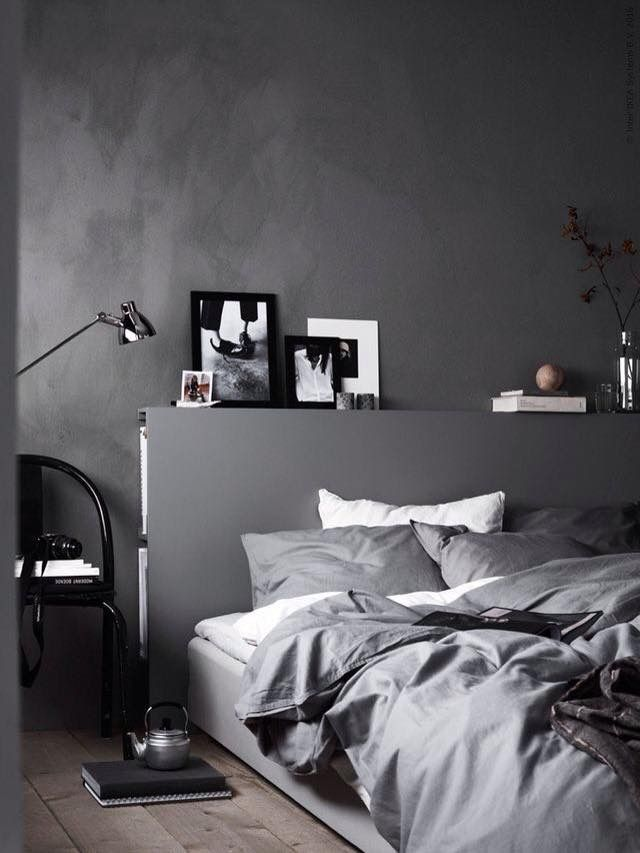 Bedroom Design Ikea Dark Dreams  Stone Gray Bedroom Interiors And Bedding Accents