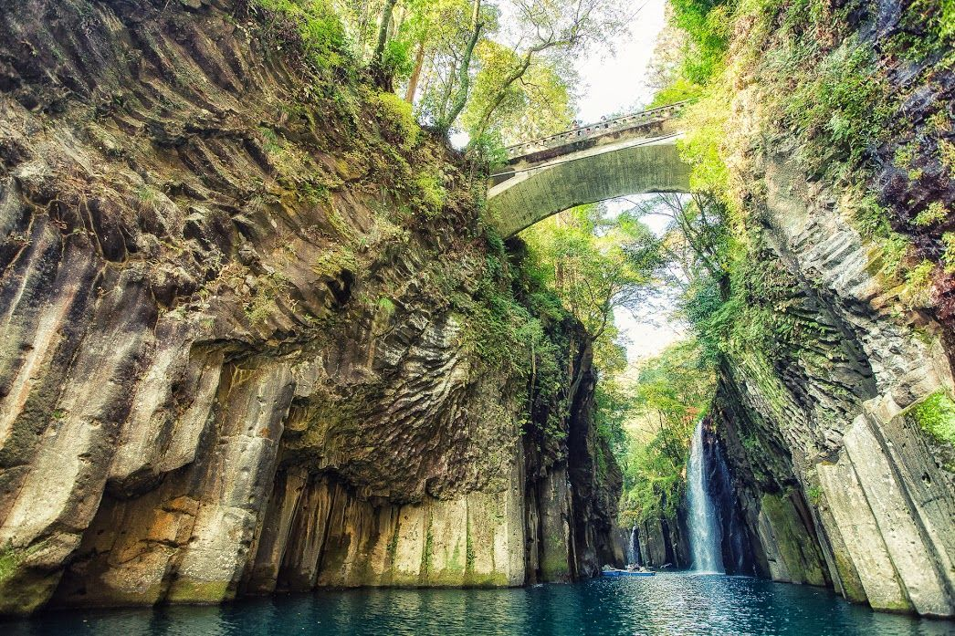 Manai Falls in the Takachiho Gorge - Japan